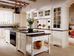 White Kitchen Cabinets With Glass Doors Home Furnitures Sets Antique White Kitchen In A Cabinet