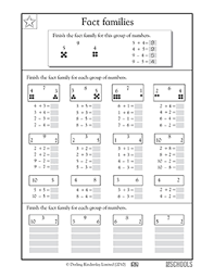 fact families worksheets 2nd grade free worksheets library