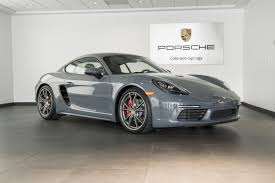 new porsche 2017 2017 porsche 718 cayman s for sale in colorado springs co 17122