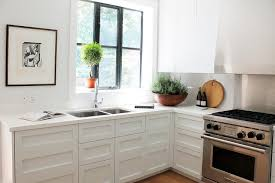 white kitchen no cabinets white kitchen cabinets sans hardware transitional kitchen