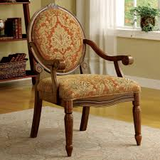 furniture brown wooden accent chairs with arms having round brown