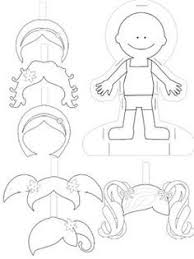 blank paper doll template for