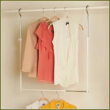 adjustable hanging closet rod home design ideas