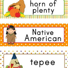 thanksgiving word wall cards free by imagination station preschool
