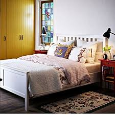 Wooden White Bed Frames Ikea Hemnes Bed Frame White Wood Kitchen Dining
