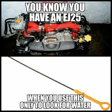 subaru meme and there goes another head gasket