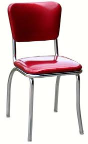 Retro Red Kitchen Chairs - diner chair 4110 classic curved back diner chair retro diner