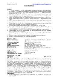 Server Sample Resume by Dot Net Developer Net Developer Sample Resume Cv