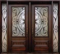 Exterior Door Design Wrought Iron Doors Also Wrought Iron Balcony Also Cast Iron Entry