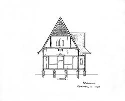 how to draw a plantation house