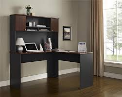 amazon com ameriwood home the works l shaped desk cherry gray