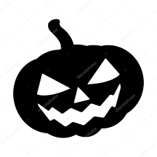 halloween black and white background halloween pumpkin silhouette vector illustration jack o lantern
