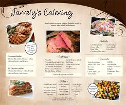 jarrety s place catering package gourmet catering menu