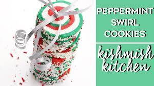 peppermint swirl sugar cookies vegan christmas cookies youtube