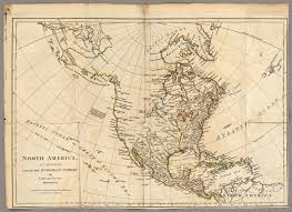 Colonial America 1776 Map by North America As Divided Amongst The European Powers David