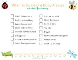 Baby Shower Tips For New Moms by 16 Things To Do Before Baby Arrives Free Printable Babies