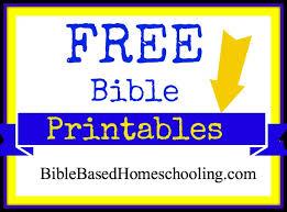 free printables bible based homeschooling