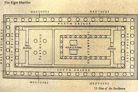 floor plan of the parthenon greek art parthenon architecture