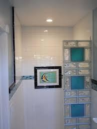 glass block bathroom designs bathroom colored glblock shower in a small bathroom renovation