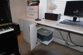 desk with printer storage printer storage idea traditional home office minneapolis by