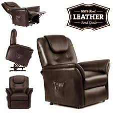 Reclining Leather Armchair Windsor Electric Reclining Armchair Recliner Lounge Chair Real