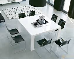 mirrored dining room table in a small dining room why not