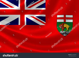 Canadian Provincial Flags 3d Rendering Canadian Provincial Flag Manitoba Stock Illustration