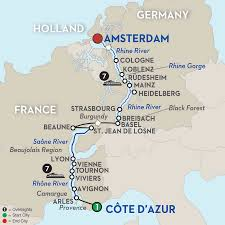 Map Of European Rivers by Amsterdam Cruises Avalon Waterways