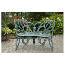 flowerhouse butterfly bench antique 425239 patio furniture at