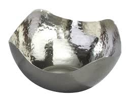 Cool Fruit Bowls by Amazon Com Elegance Hammered 10 Inch Stainless Steel Wave