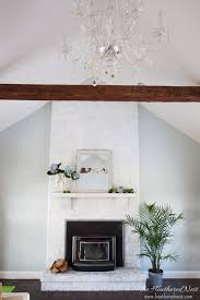 How To Update Brick Fireplace painting a fireplace the heathered nest