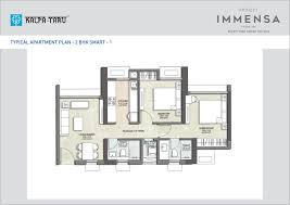 Smart Floor Plan by Floor Plans Of Kalpataru Immensa