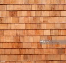 cedar wood wall cedar wood panels siding on house stock photo getty images