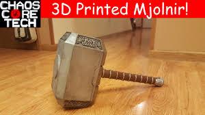 life size 3d printed thor s hammer mjolnir youtube
