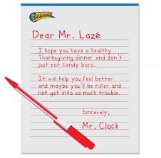 write a healthy thanksgiving letter to m adventure to fitness