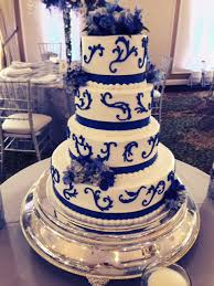 wedding cakes royal blue scrolling wedding cake jpg
