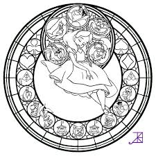 stained glass coloring pages disney coloringstar