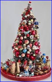 bottle brush tree mercury glass ornaments trinkets