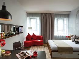 interior stylish studio apartment design white painted walls