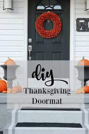diy thanksgiving doormat thistlewood farm