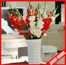 Artificial Flowers In Vase Wholesale Artificial White Gladiolus Flowers Artificial White Gladiolus