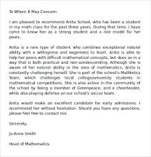 ideas of recommendation letter example for doctors with sample