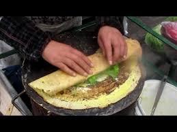 cuisine pancake food jian crepe pancake 煎饼 in xi an china