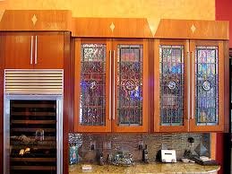 Glass Kitchen Cabinet Door by Stained Glass Cabinet Door Designs Mf Cabinets