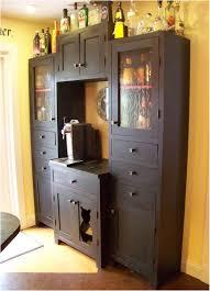 small black diy liquor cabinet for corner idea decofurnish