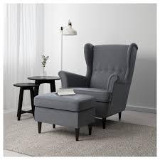 Chair With Ottoman Ikea Strandmon Ottoman Skiftebo Light Turquoise Ikea