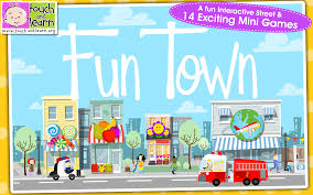 amazon com fun town for kids creative play by touch u0026 learn