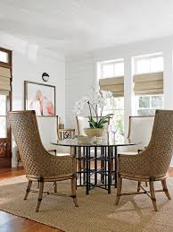 twin palms stellaris dining table with 60 inch glass top