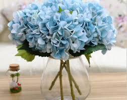 hydrangea centerpieces blue hydrangea etsy