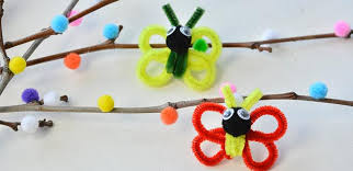 Butterfly Crafts For Kids To Make - chenille stem butterfly fun family crafts